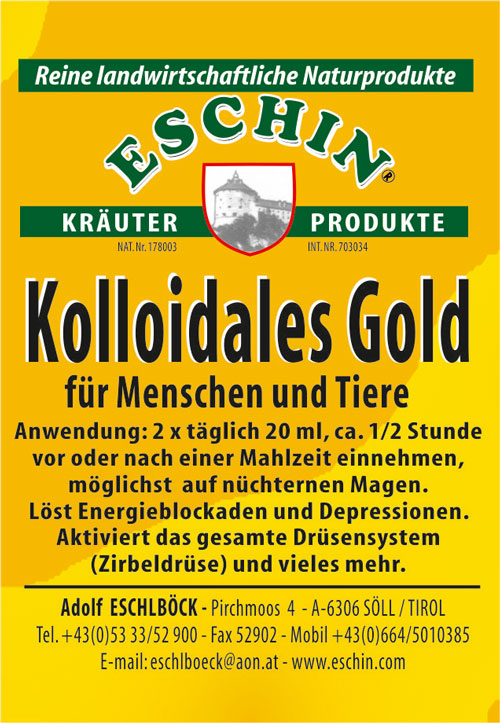 13 A Kolliodales Gold 100 ml